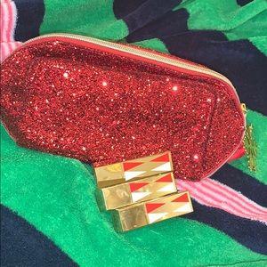 Estée Lauder Lipsticks NEW and Make up bag